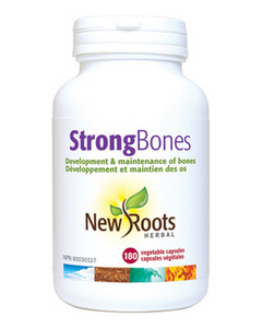 Strong Bones helps you build and maintain stronger bones. Strong Bones contains the proper form of calcium (MCHA) from New Zealand, with cofactors for immediate absorption for the prevention of osteoporosis.