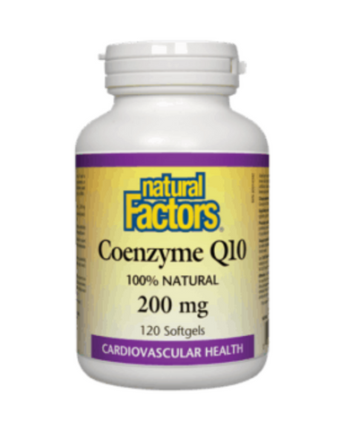 Coenzyme Q10 is a vitamin-like essential nutrient that helps increase levels of cellular energy production and is required by every cell in our body. Known to support cardiovascular health and cellular vigour. Natural Factors Coenzyme Q10 30 mg is 100% natural, consisting only of the trans isomer identical to the body's own CoQ10.