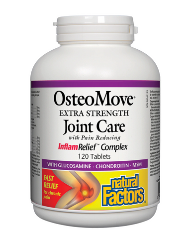 OsteoMove™ Extra Strength Joint Care provides nutritional support for healthy joint structure, function and mobility. It combines key nutrients: glucosamine, chondroitin and MSM, as well as a proprietary fruit blend of seven fruit concentrates with high antioxidant potential.