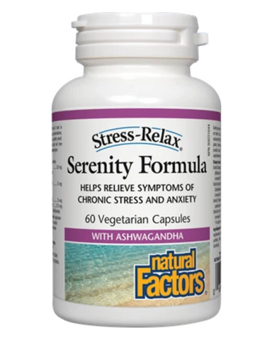 Stress-Relax Serenity Formula is a unique mix of adaptogenic herbs designed to promote emotional well-being and to help the body cope with symptoms of stress naturally. It is the ideal formula for those suffering from adrenal exhaustion and other health issues caused by anxiety and chronic daily stress.
