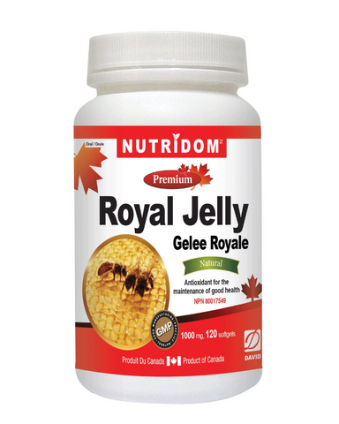 Nutridom Royal Jelly is rich in multivitamins, minerals, enzymes, amino acids, and acetylcholine. It has been used in traditional medicine in Europe and Asia for longevity.