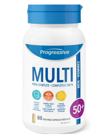 Progressive MultiVitamins for Men 50+ addresses the needs of an aging body and helps you stay youthful and remain active with the ones you love.