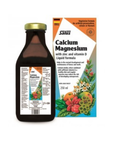 Put your best (and strongest) foot forward and face calcium deficiency head on with Salus Calcium Magnesium liquid. This highly absorbable liquid tonic combines calcium with magnesium, zinc, and vitamin D, promoting maximum calcium absorption where it's needed, in the bones,* helping them stay strong and healthy.