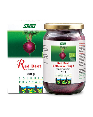 Add the goodness of red beets to breakfast, lunch, dinner, even snacks, with naturally sweet tasting and instantly soluble Salus Red Beet Crystals. Salus Red Beet Crystals are carefully obtained from the juice of freshly harvested organic beets. They are a great addition to smoothies, soup, muesli, and more.
