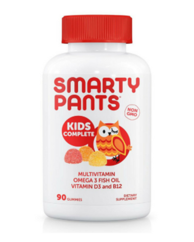 SmartyPants Kids Complete is more than just a multivitamin, it includes ten essential nutrients and omega 3 DHA and EPA fish oil – all in one.