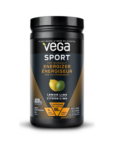 Get in the zone with energy to burn. Vega Sport® Pre-Workout Energizer gives the energy you need to push through long and intense workouts.