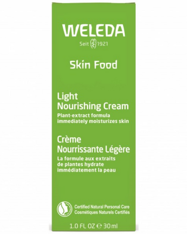 Weleda Skin Food Light Nourishing Cream is a vibrant herbal blend of chamomile and calendula that invigorates your senses as it feeds your skin a dose of moisture. It spreads easily, absorbs quickly and immediately provides moisture. This is a lighter alternative to Weleda Skin Food Original for daily use. This convenient combination solution for face and body leaves skin feeling soft and smooth; it's perfect for warmer weather!