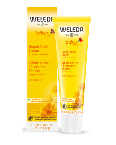 As a natural healing alternative, choose Weleda's Diaper-Care for quick, effective relief for your baby's diaper rash and minor skin irritations. Zinc oxide protects and promotes healing, while calendula soothes the skin.