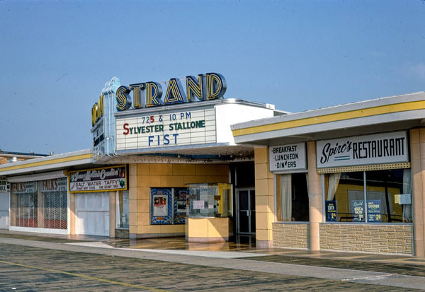 Historic Photo : 1978 Strand Theater, angle 1, Boardwalk, Wildwood, New Jersey | Margolies | Roadside America Collection | Vintage Wall Art :