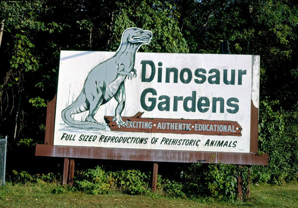 Historic Photo : 1988 Dinosaur Gardens, Route 23, Ossineke, Michigan | Margolies | Roadside America Collection | Vintage Wall Art :