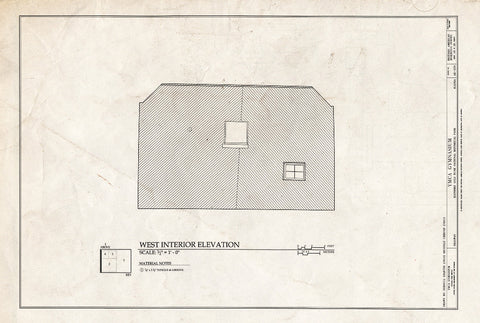 Blueprint West Interior Elevation - YMCA Gymnasium, 475 State Street, Skagway, Skagway, AK