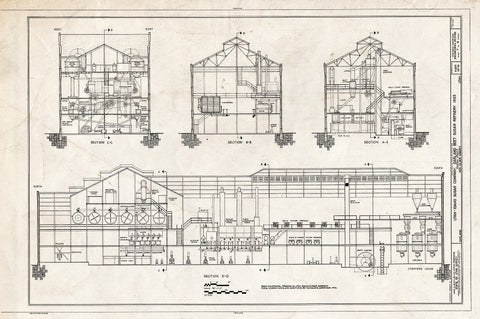 Blueprint HAER Utah,2-GARL.V,1- (Sheet 7 of 8) - Utah Sugar Company, Garland Beet Sugar Refinery, Factory Street, Garland, Box Elder County, UT