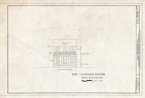 Blueprint HABS VA,7-Alex,183 (Sheet 2 of 8) - Latham House, 1200 North Quaker Lane, Alexandria, Independent City, VA