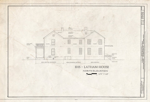 Blueprint HABS VA,7-Alex,183 (Sheet 5 of 8) - Latham House, 1200 North Quaker Lane, Alexandria, Independent City, VA
