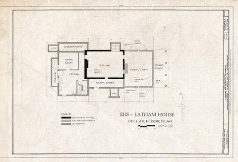 Blueprint HABS VA,7-Alex,183 (Sheet 6 of 8) - Latham House, 1200 North Quaker Lane, Alexandria, Independent City, VA