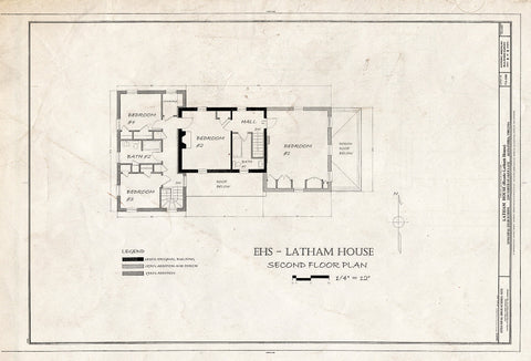 Blueprint HABS VA,7-Alex,183 (Sheet 8 of 8) - Latham House, 1200 North Quaker Lane, Alexandria, Independent City, VA