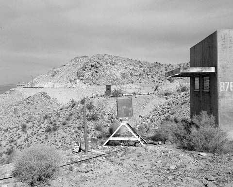 Edwards Air Force Base, Air Force Rocket Propulsion Laboratory, Observation Bunkers for Test Stand 1-A, Test Area 1-120, north end of Jupiter Boulevard, Boron, Kern County, CA 1