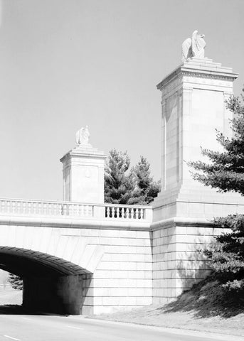 Arlington Memorial Bridge, Boundary Channel Extension, Spanning Mount Vernon Memorial Highway & Boundary Channel, Washington, District of Columbia, DC 2