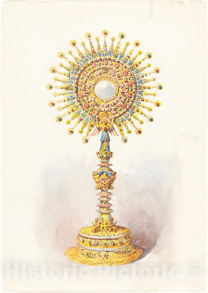 Art Print : A Monstrance, c. 1860 - Vintage Wall Art