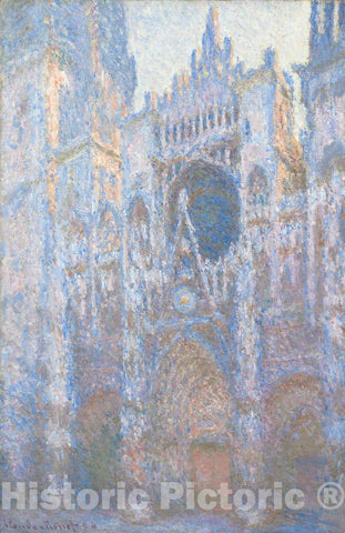 Art Print : Claude Monet, Rouen Cathedral, West Façade, 1894 - Vintage Wall Art