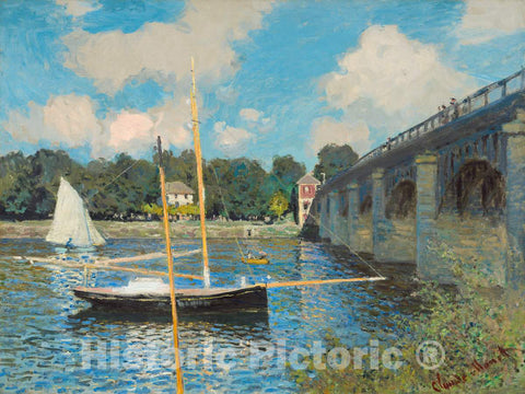 Art Print : Claude Monet, The Bridge at Argenteuil, 1874 - Vintage Wall Art