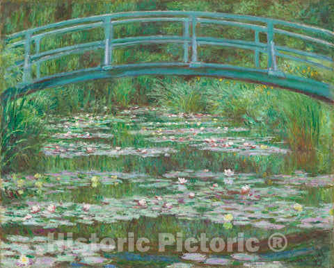 Art Print : Claude Monet, The Japanese Footbridge, 1899 - Vintage Wall Art