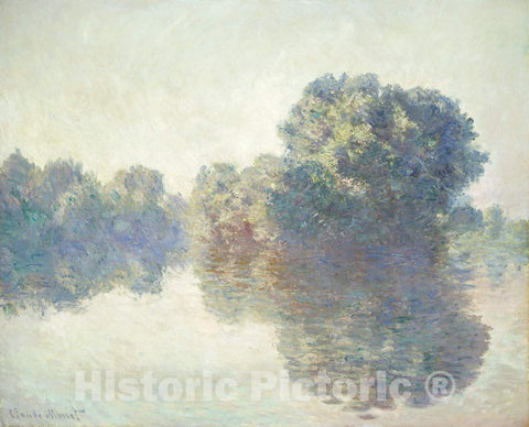 Art Print : Claude Monet, The Seine at Giverny, 1897 - Vintage Wall Art