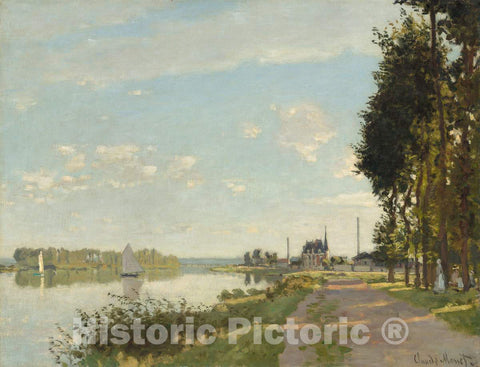 Art Print : Claude Monet, Argenteuil, c. 1872 - Vintage Wall Art