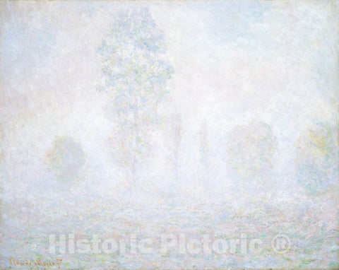 Art Print : Claude Monet, Morning Haze, 1888 - Vintage Wall Art