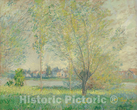 Art Print : Claude Monet, The Willows, 1880 - Vintage Wall Art