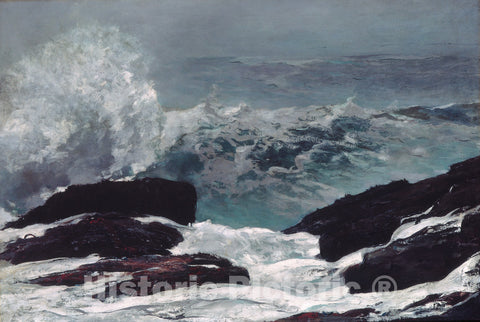 Art Print : Winslow Homer - Maine Coast : Vintage Wall Art