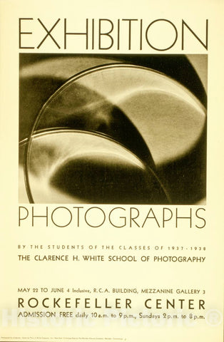 Vintage Poster -  Exhibition: Photographs by The Students of The Classes of 1937 - 1938, Historic Wall Art