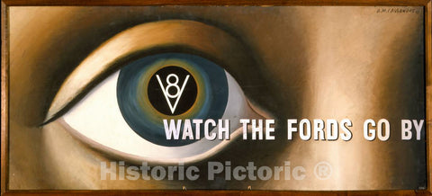 Vintage Poster -  Watch The Fords go by -  A.M. Cassandre 37., Historic Wall Art