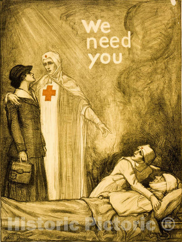 Vintage Poster -  We Need You -  Albert Sterner 1918., Historic Wall Art