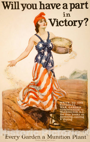 Vintage Poster -  Will You Have a Part in Victory? -  James Montgomery Flagg., Historic Wall Art