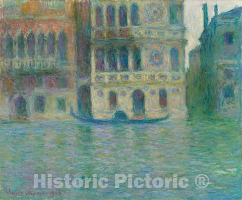 Art Print : Venice, Palazzo Dario, Claude Monet, c 1908, Vintage Wall Decor :