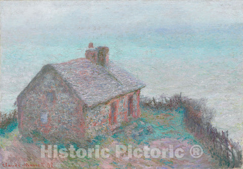 Art Print : The Customs House at Varengeville, Claude Monet, c 1897, Vintage Wall Decor :