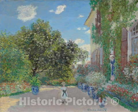 Art Print : The Artists House at Argenteuil, Claude Monet, c 1873, Vintage Wall Decor :