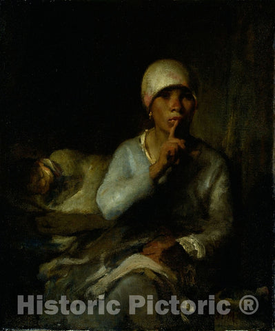 Art Print : Woman and Child (Silence), Jean François Millet, c 1623, Vintage Wall Decor :
