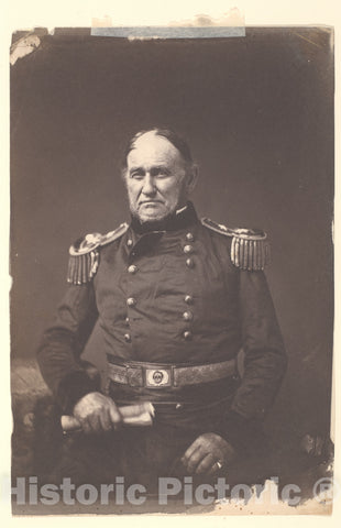 Photo Print : Mathew B. Brady - Major General David E. Twiggs : Vintage Wall Art