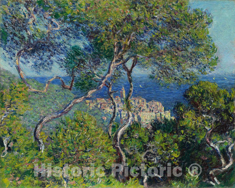 Art Print : Bordighera, Claude Monet, c 1887, Vintage Wall Decor :