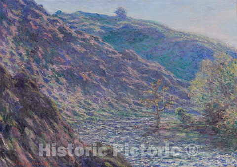 Art Print : The Petite Creuse River, Claude Monet, c 1893, Vintage Wall Decor :