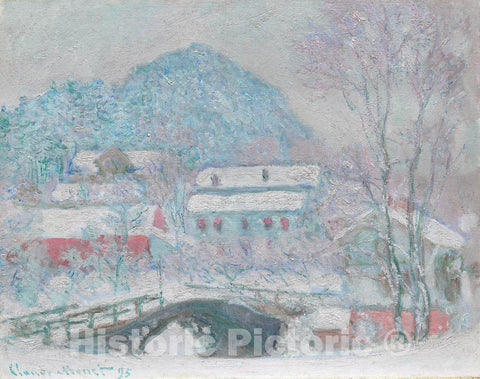 Art Print : Sandvika, Norway, Claude Monet, c 1748, Vintage Wall Decor :