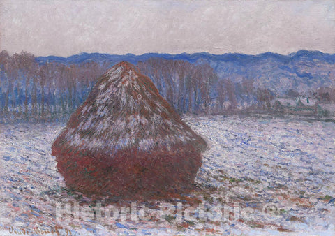 Art Print : Stack of Wheat, Claude Monet, c 1675, Vintage Wall Decor :