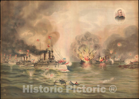 Art Print : Battle of Manila, The Philippines, Xanthus Russell Smith, 1898, Vintage Wall Art