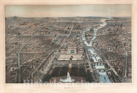 Art Print : Paris, France, Fichot, 1867, Vintage Wall Art