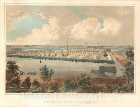 Art Print : Camp Oliver, North Carolina, Sarony, 1863, Vintage Wall Art