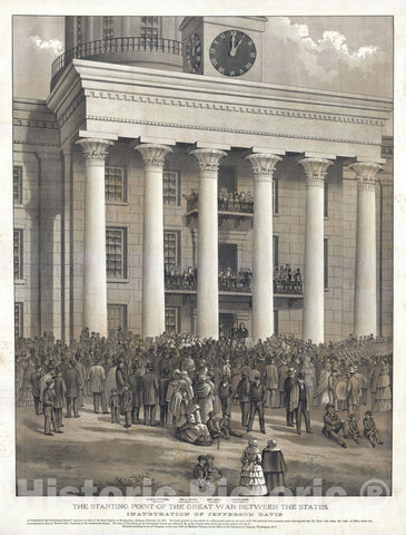 Art Print : Inauguration of Jefferson Davis, Matthew Teirney, 1887, Vintage Wall Art