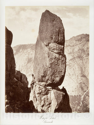Photo Print : Carleton E. Watkins - Magic Tower, Yosemite : Vintage Wall Art