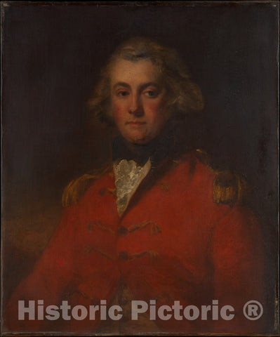 Art Print : John Hoppner - Major Thomas Pechell (1753–1826) : Vintage Wall Art